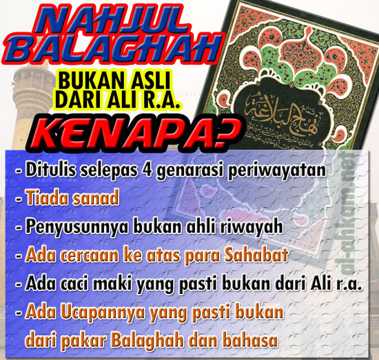 Nahjul Balaghah Bukan Asli Dari Ali r.a.