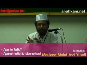 Apa itu talfiq? Talfiq dibenarkan?