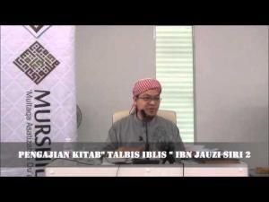 Dr Zaharuddin Abd Rahman Talaqqi Kitab Talbis Iblis Ibn Jauzi Siri 2