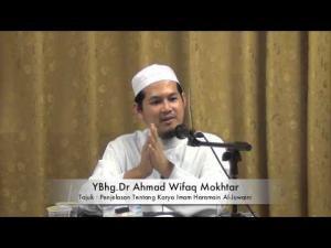 06-10-2013 DR.A.WIFAQ Tajuk : Muqaddimah Matan Al-Waraqat Karya Imam Haramain Al-Juwaini