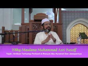 08-02-2014 MMAY KITAB JAMI' Tajuk : Kritikan terhadap Peribadi & Riwayat Abu Hurairah Dan Jawapannya