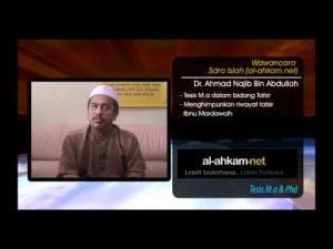 Wawancara Dr Ahmad Najib:  Di sekitar Tesis M.a dan Phd (Siri 2)