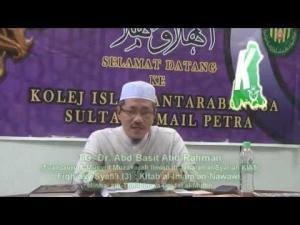 Perkara yang membatalkan puasa (3) -TG. Dr. Abd Basit Abd Rahman