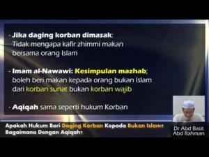 Dr Abdul Basit: Apa Hukum Beri Daging Korban Kepada Bukan Islam?