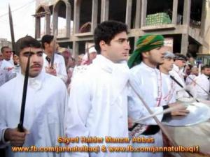 Talwaar ka Matam in Karbala on Yaum-e-Ashura Dated 6 Dec 2011 Video2