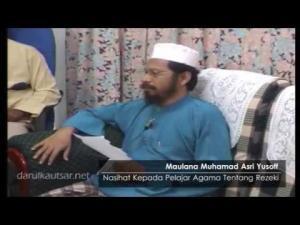 Nasihat Maulana Asri Atas Kebimbangan Pelajar Agama Tentang Rezekinya